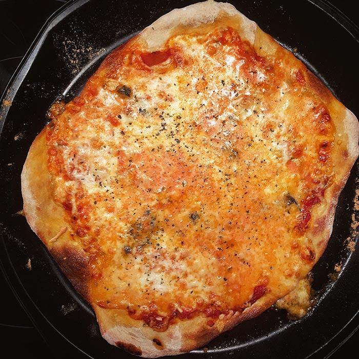 Pizza casera con masa de Jesús Marquina