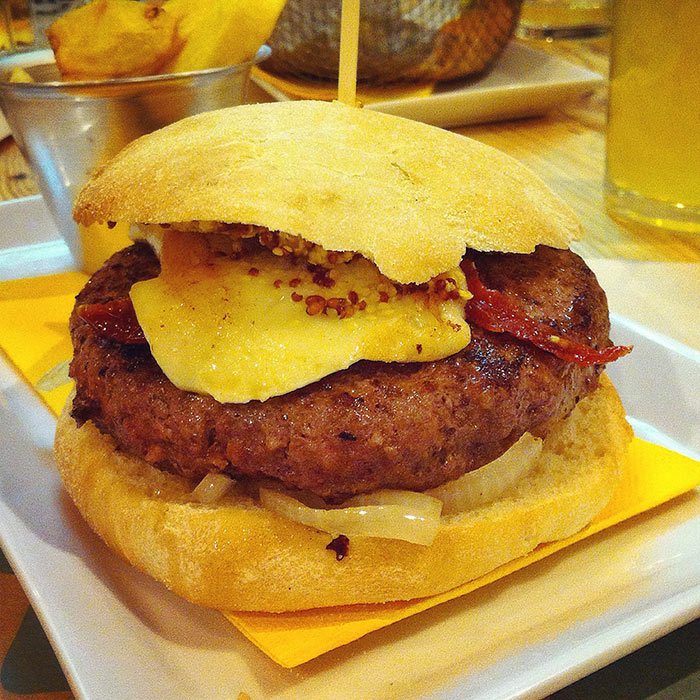 Hamburguesa del Takk Burgerbar Zaragoza