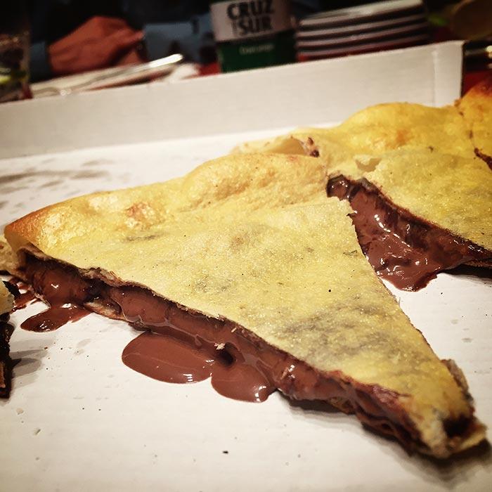 Pizza de Nutella en Dolce Pizza