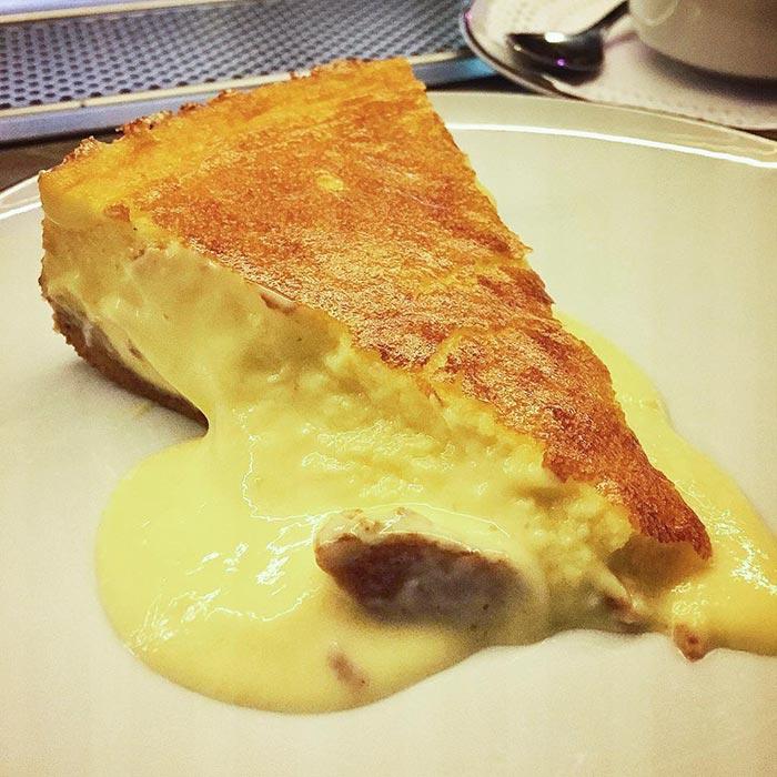 Tarta de queso en Garbo Gentlebar
